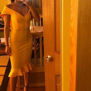 This is a Elegant Yellow Dress